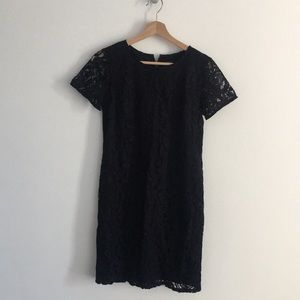 Navy lace mini dress